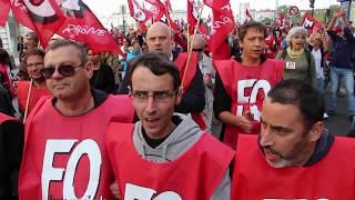 2017 09 12 FO dans la manifestation de Lyon