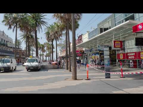 The Corso in Manly in Sydney