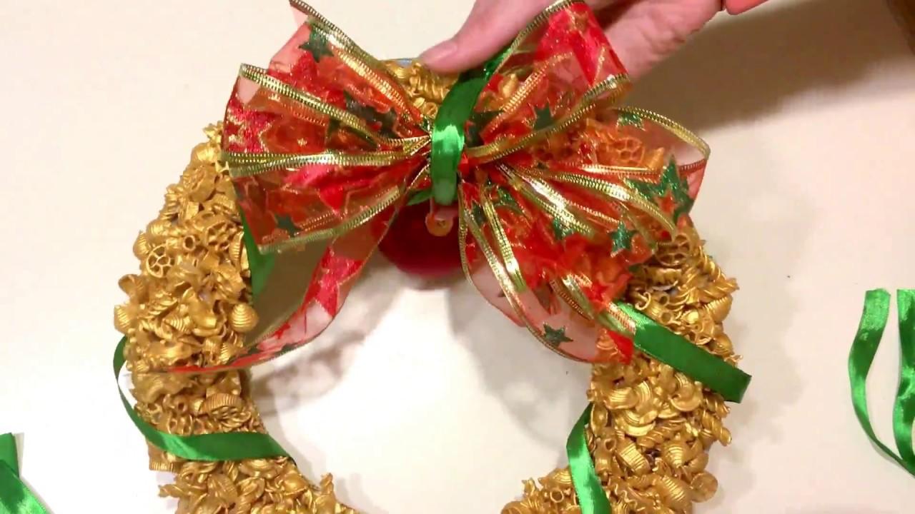 Венки из макарон своими руками 570