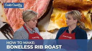 How to Make a Stunning Boneless Rib Roast with Yorkshire Pudding and Jus