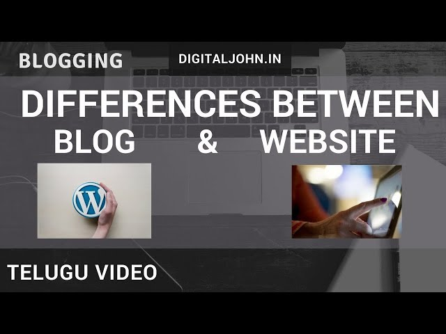 What are the Differences between Blog and Website || Digital Badi