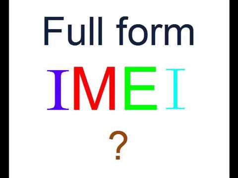 What is IMEI Unique Mobile Number Full form ?