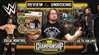 Mattel Seth Rollins Drew McIntyre Showdown Two Pack Unboxing Review