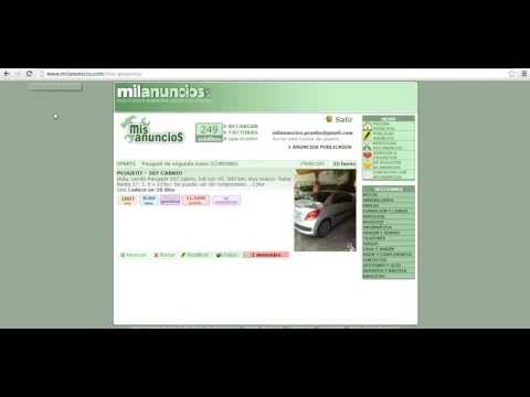 Como publicar anuncios gratis en milanuncios doovi for Poner anuncio en milanuncios