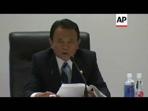 Aso: G7 agree plan against terror financing