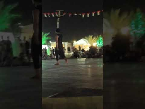 Fire dance in desert camp, Dubai