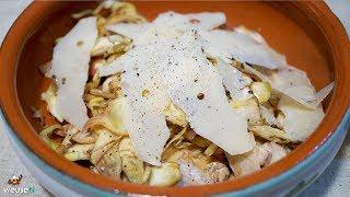 455 - Insalata di carciofi e funghi champignon..e ti senti anche chiffon! (contorno vegetariano top)