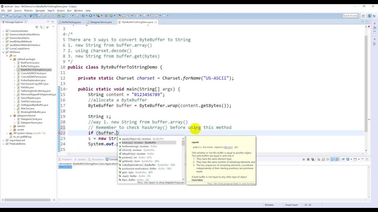 Java nio bytebuffer to string demo youtube java nio bytebuffer to string demo baditri Images
