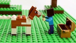 Lego Minecraft Block Building Animals Animation