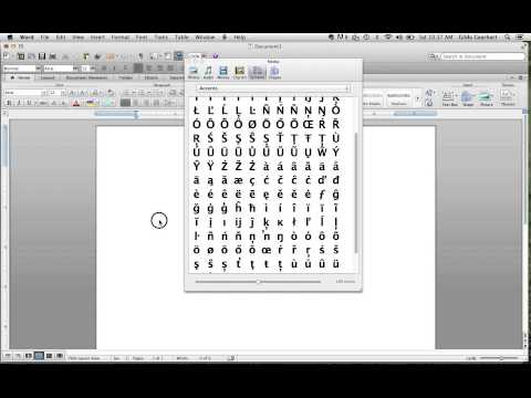 Inserting Diacritical Marks