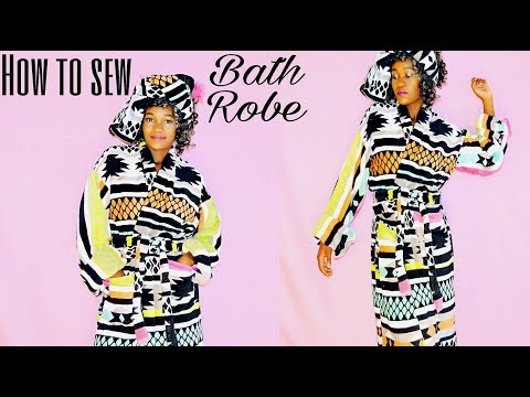 How To Sew Bath Robe From Towels