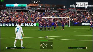 PES 2018 | Eibar vs Real Madrid | Ronaldo Free Kick Goal | Gameplay PC