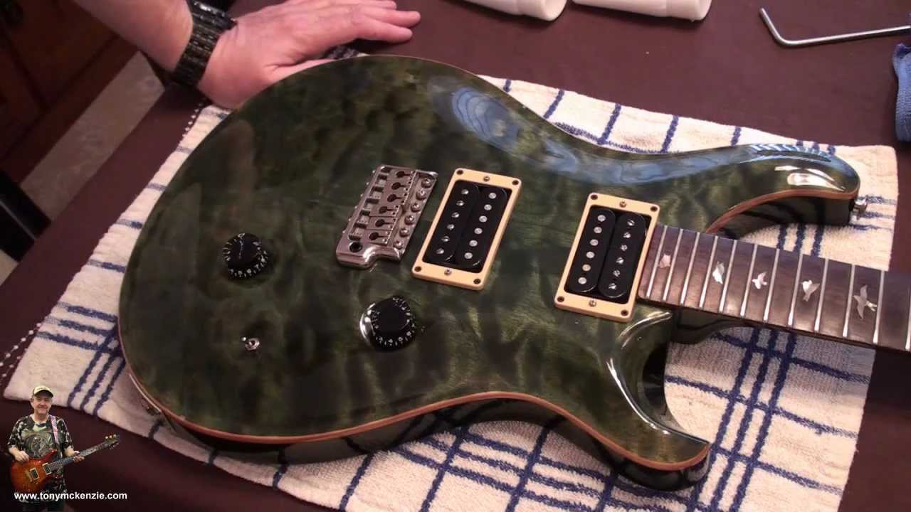 PRS Custom 24 1991 CLOSE UP REVIEW And Using Guitar Scratch Remover Review