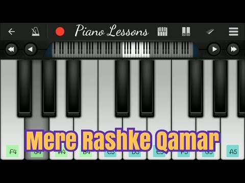 Mere Rashke Qamar - Baadshaho   Mobile Perfect Piano Tutorial