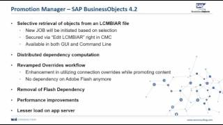 Promotions Manager - What's New in SAP BOBJ 4.2