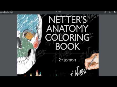 LIBROS DE MEDICINA: NETTER´S ANATOMY COLORING BOOK - LIBRO DE ANATOMIA PARA  COLOREAR NETTER