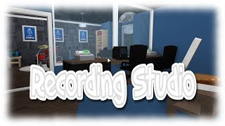 Roblox| RECORDING STUDIO| Bloxburg