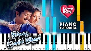 Thullatha Manamum Thullum Love BGM Piano Notes | Innisai Paadivarum