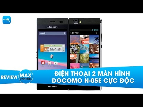 Điện thoại 2 màn hình Docomo N-05E cực độc - Điện thoại 2 màn hình đến từ NEC Medias