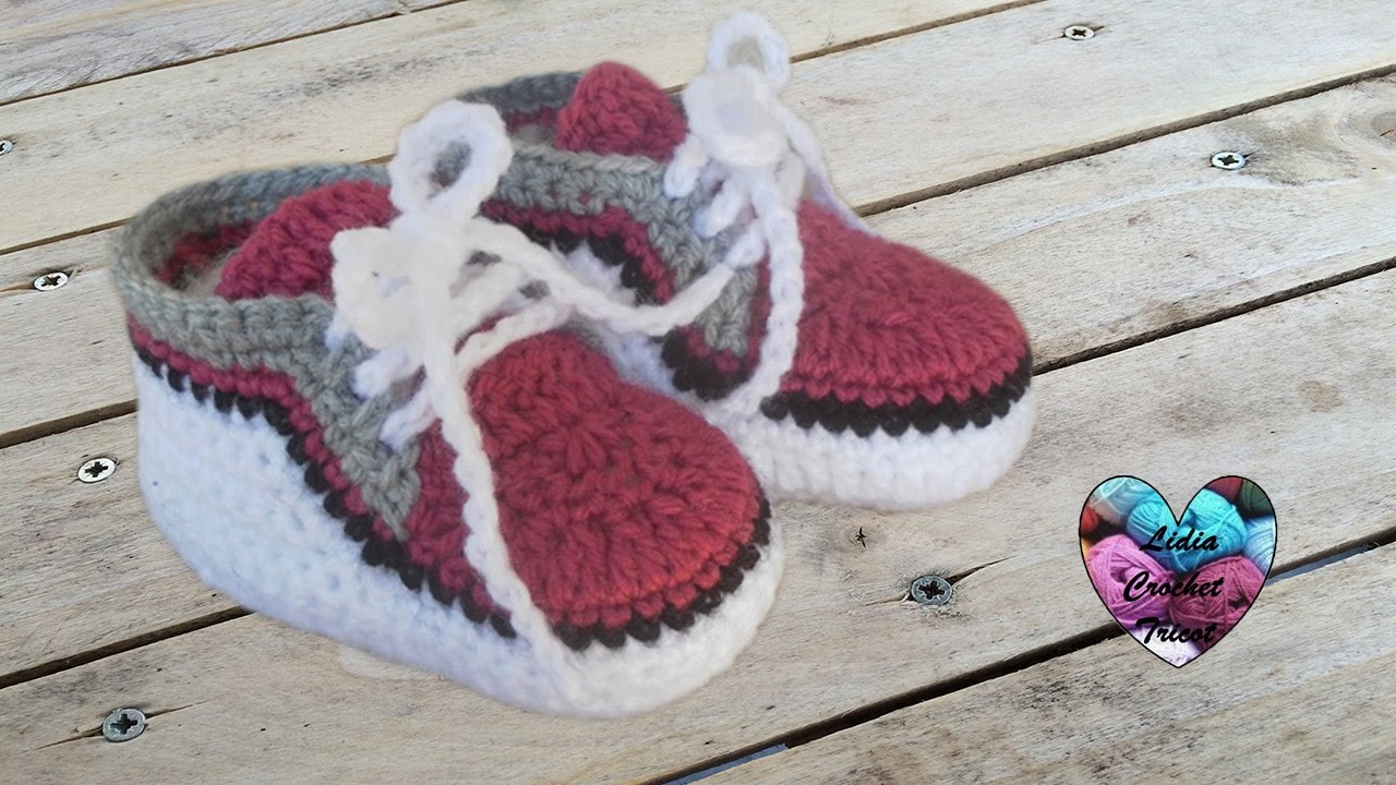 Baskets Bébé 12 Zapatitos Bebe A Crochet Youtube