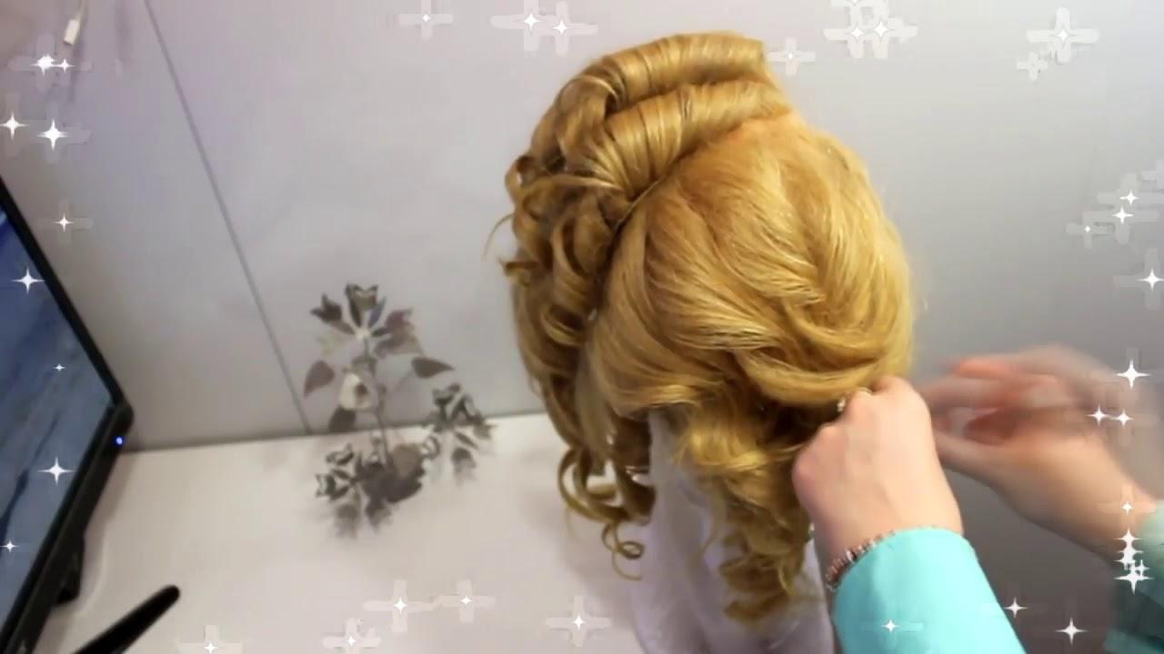 Прическа на длинные волосы Пучок для девочек из кос Вечерние прически