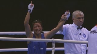 Rahali (TUN) V Himangte (IND) - Women's Fly 51kg Quarter-Final Full Bout | London 2012 Olympics
