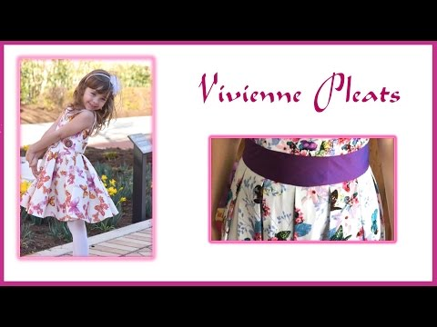 How to fold and sew Box Pleats  Vivienne Pattern