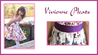 How to fold and sew Box Pleats - Vivienne Pattern