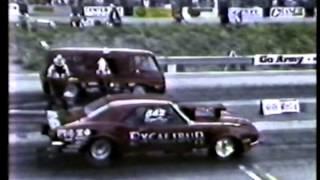 drag race 67 dodge a100 van vs camero in 1983