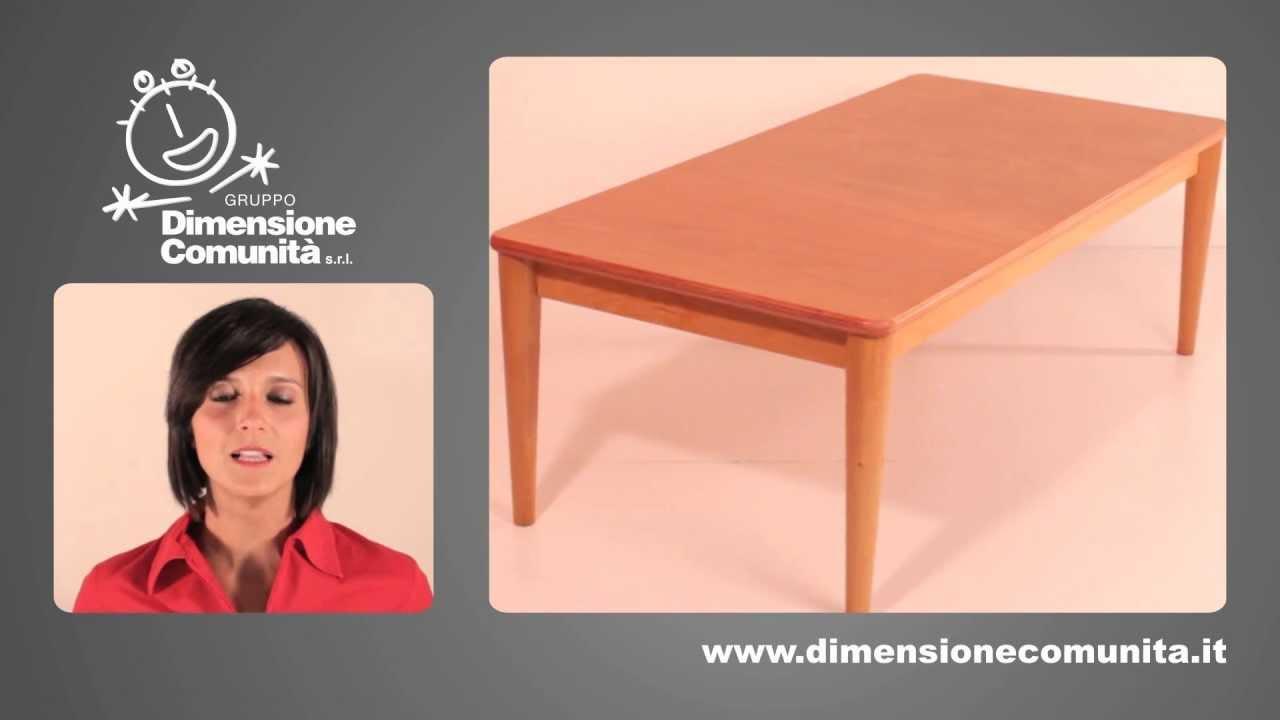 Tavolo Rettangolare Con Gambe Coniche Tr0126x Dimensione Comunita S R L