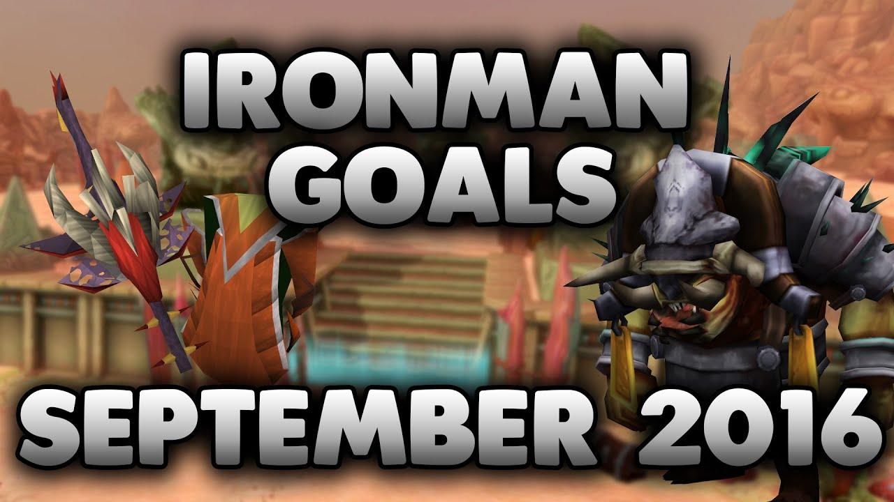 RuneScape 3 Ironman Goals - September 2016