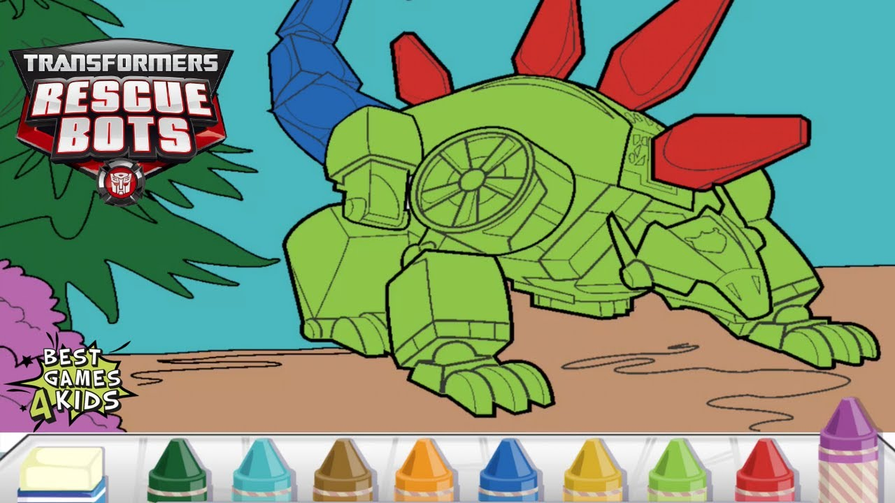 Transformers Rescue Bots: Dino Island | Color your DINO BOTS! By ...