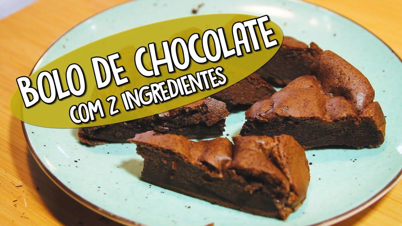 O incrível bolo de chocolate que se faz com 2 ingredientes