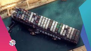 محاولات متواصلة لتعويم السفينة الجانحة في قناة السويس | بتوقيت مصر