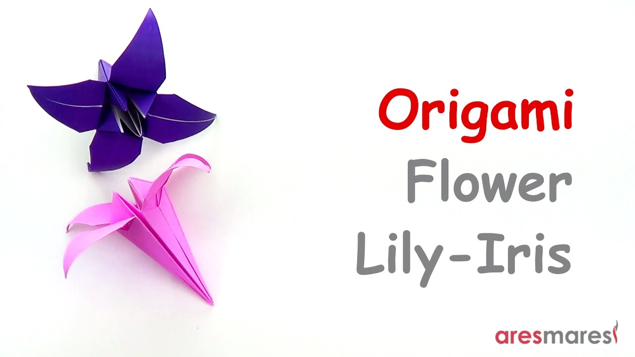 Lily or Iris origami tutorial by lantern77 on deviantART | Origami ... | 720x1280
