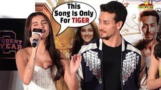 Tara Sutaria SINGS Lag Ja Gale LIVE For Tiger Shroff at Student Of The Year 2 trailer launch