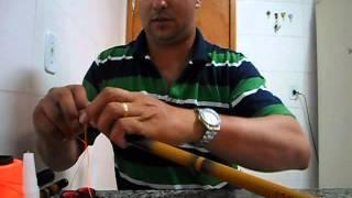 Técnica de fazer ponteira ou cabresto para vara telescópica