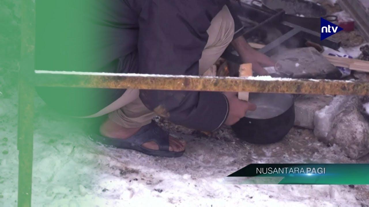 Ribuan Migran Terlantardi Tengah Salju