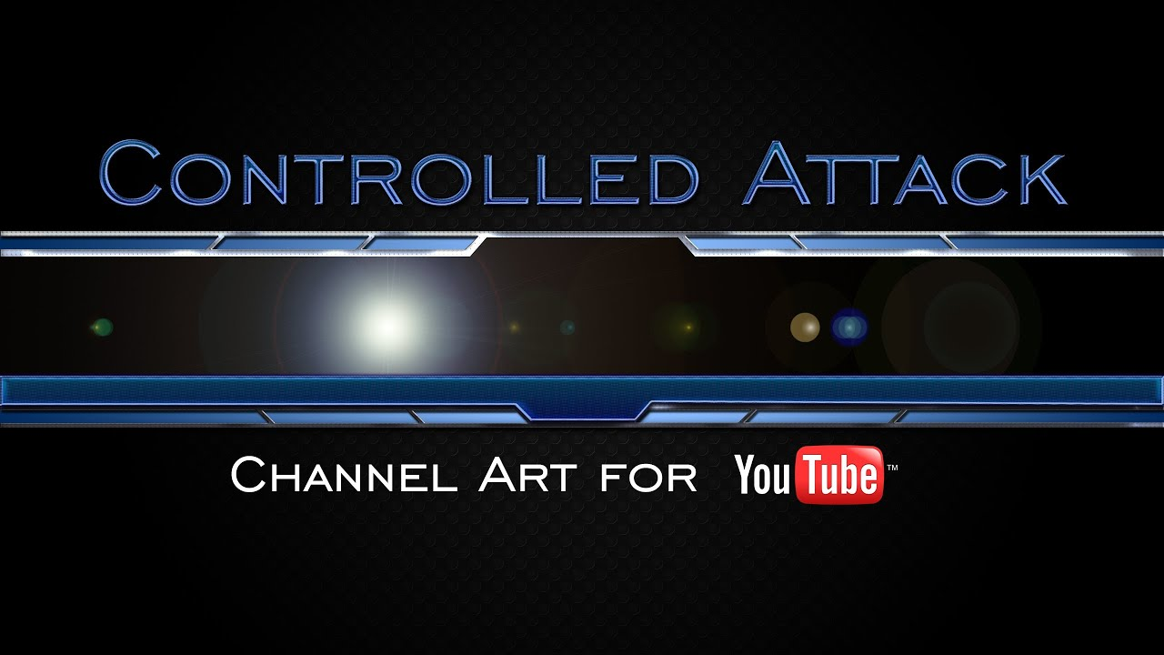 Controlled Attack Gaming YouTube Channel Art Template - YouTube