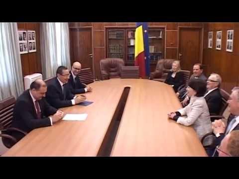 Primul-ministru Victor Ponta s-a intalnit cu președintele Oracle Corporation, Safra Catz
