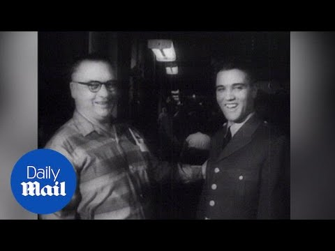 Elvis Presley is drafted into the US Army in 1958 - Daily Mail