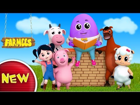 Humpty Dumpty Sat On A Wall | Nursery Rhymes | Kids Songs | Baby Rhymes by Farmees S02E164