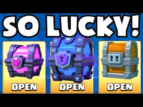 Clash Royale SO LUCKY! Opening Giant/Magical/Super Magical Chests (Best/Luckiest Chest Opening Ever)