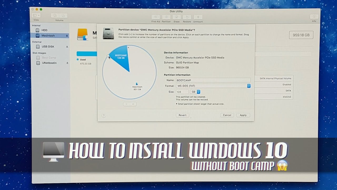 How to Install Windows 28 without Boot Camp on Older Mac Pro via USB