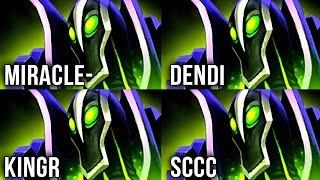 Best Players in The World on EPIC Rubick Battle! Miracle- vs Dendi vs KingR vs Sccc - Dota 2