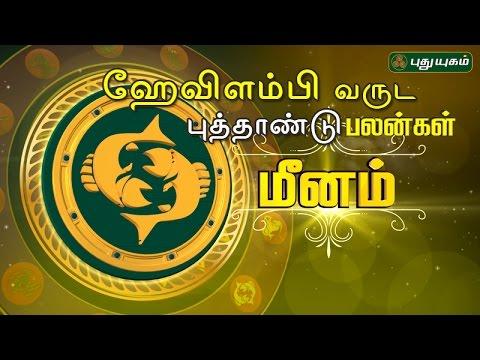 Meena Rasi (Pisces) ஹேவிளம்பி தமிழ் புத்தாண்டு பலன்கள் 14-04-2017 Puthuyugam TV