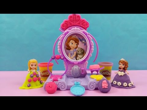 new play doh sofia amulet   jewels vanity set make sofia