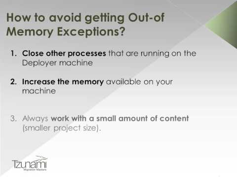 How to avoid Deployer Out-of-Memory Exceptions