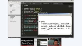 Un poco de HTML5, JS, PHP y MySQL