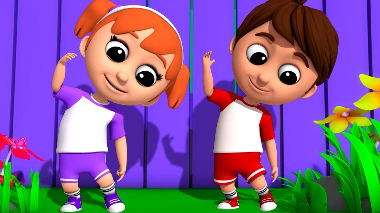 luke lily head shoulders knees toes nursery rhymes songs video kids toddler